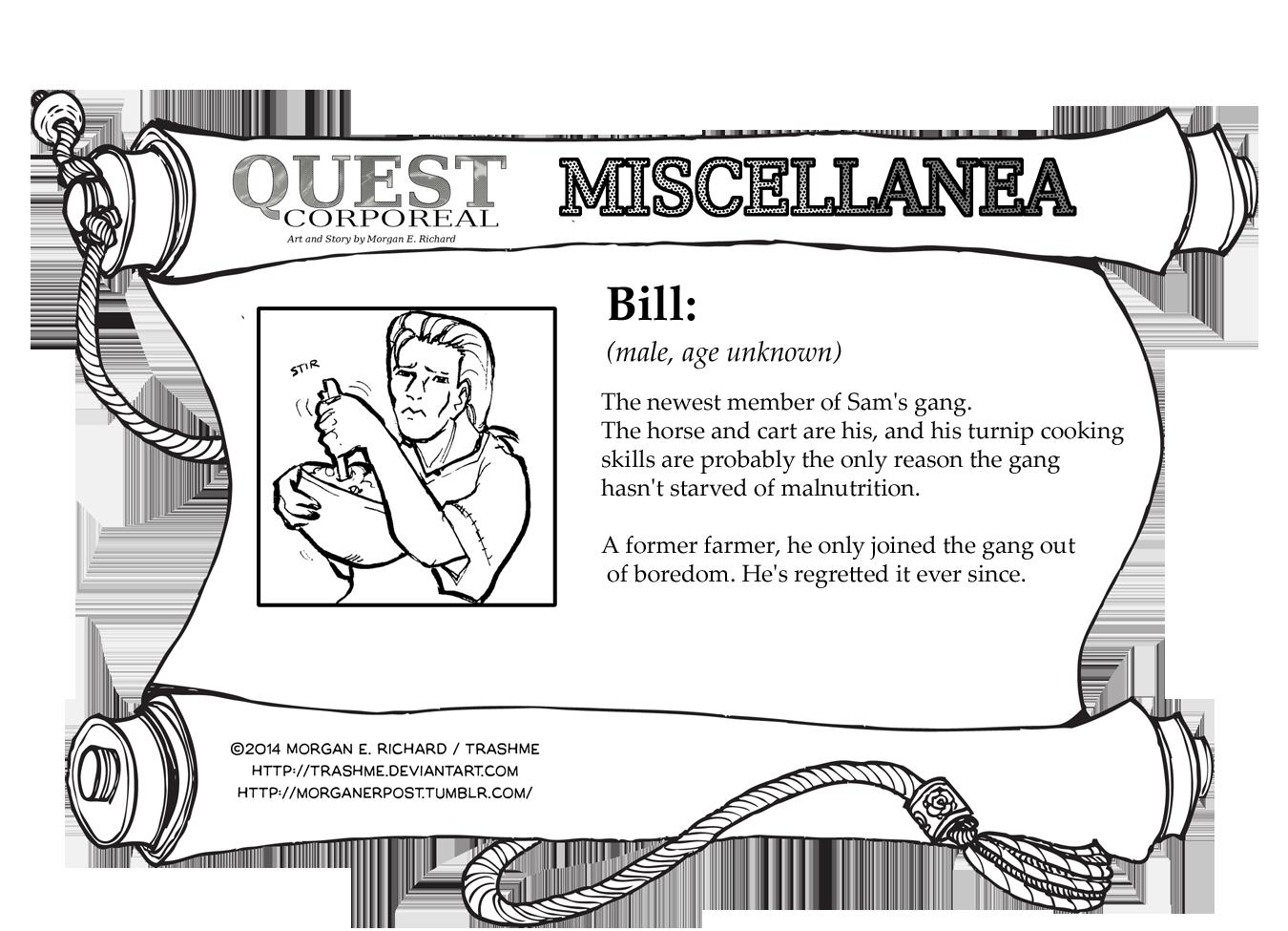 Miscellanea Corporeal: Bill