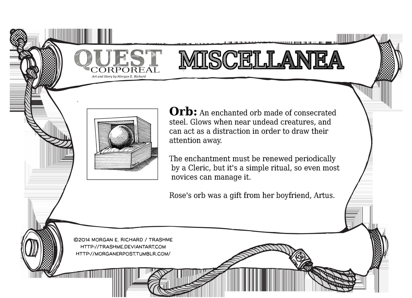 Miscellanea Corporeal: Orb