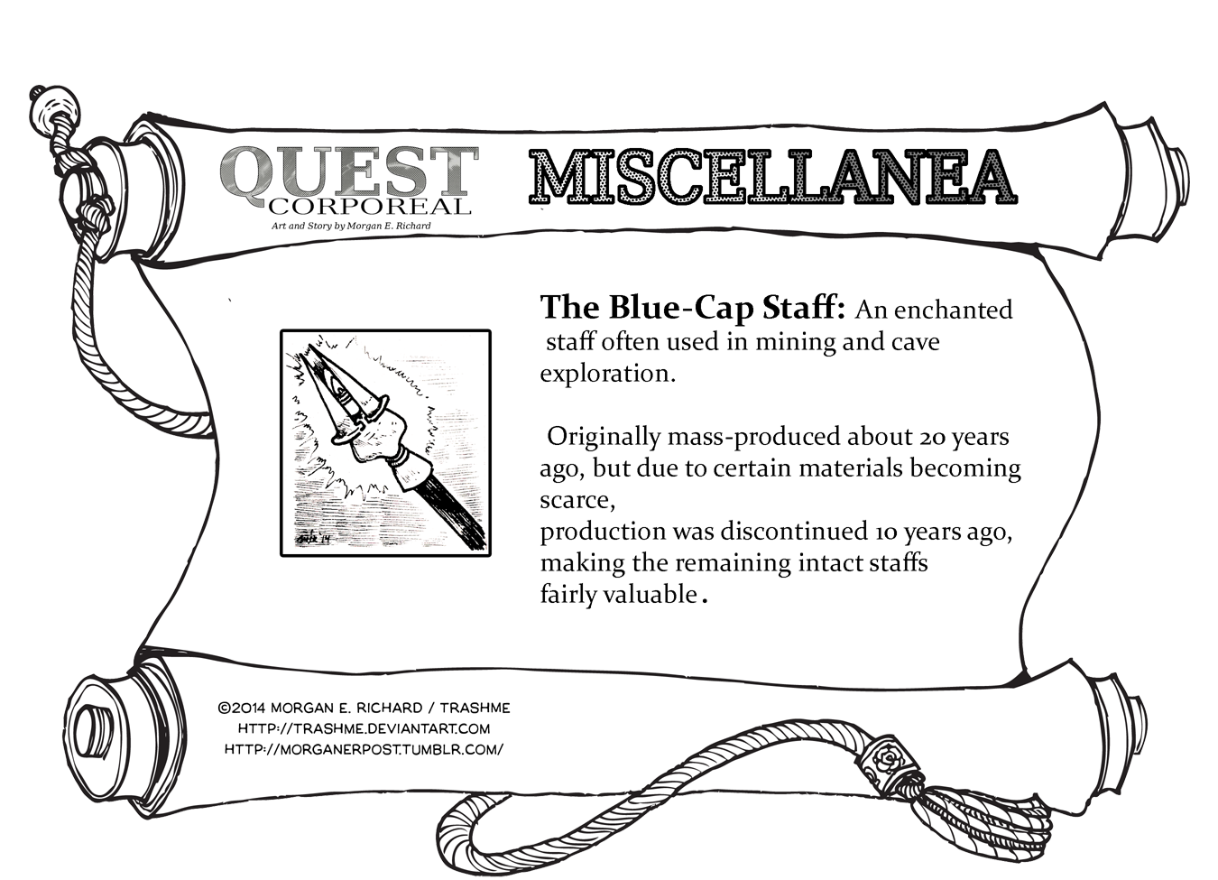Miscellanea Corporeal: The Blue-Cap Staff