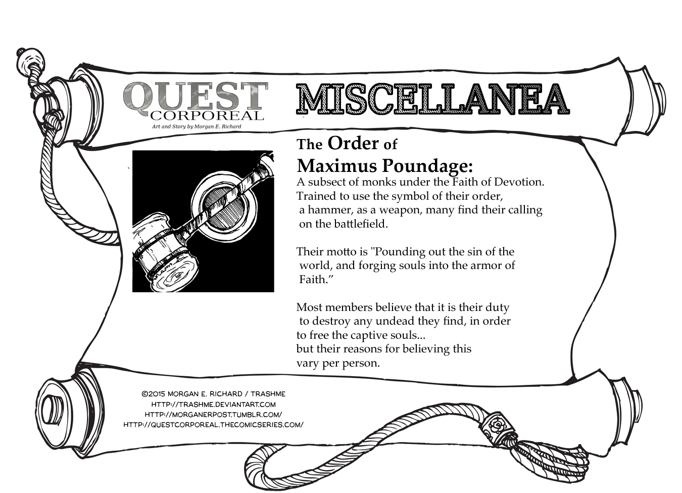 Miscellanea Corporeal: The Order of Maximus Poundage