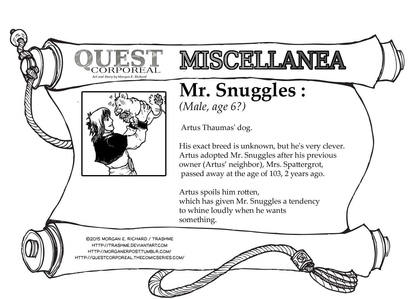 Miscellanea Corporeal: Mr. Snuggles